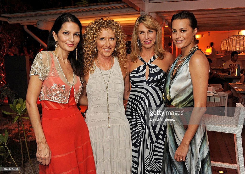 Yasmin Mills, Kelly Hoppen, Anastasia Webster and Yasmin Le Bon attend a private dinner hosted by Kelly Hoppen to celebrate her design of the exclusive resort LUX Belle Mare on December 17, 2013 in Belle Mare, Mauritius.
