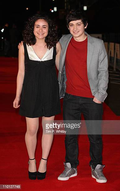 Yasmin Paige and Craig Roberts attend the UK Film Premiere of 'Submarine' at BFI Southbank on March 15 2011 in London England
