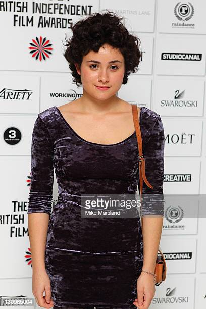 Yasmin Paige attends the nominations announcement of The Moet British Independent Film Awards at St Martin's Lane Hotel on October 31 2011 in London...