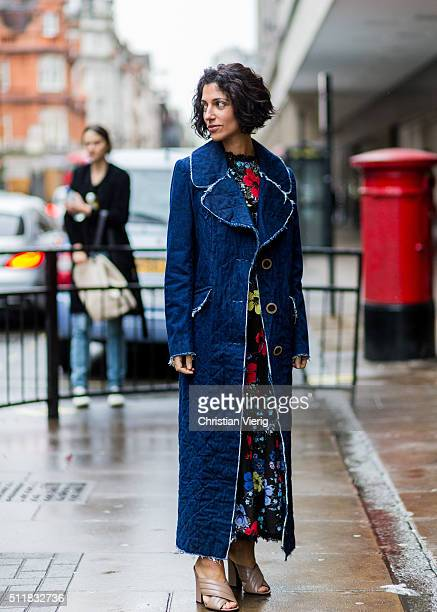 Yasmin Sewell seen outside Erdem during London Fashion Week Autumn/Winter 2016/17 on February 22 2016 in London England United Kingdom