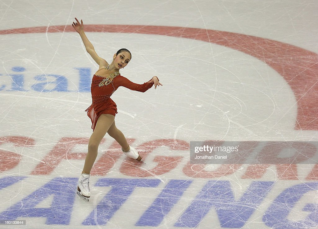 Yasmin Siraj competes in the Ladies Free Skate during the 2013 Prudential U.S. Figure Skating Championships at CenturyLink Center on January 26, 2013 in Omaha, Nebraska.