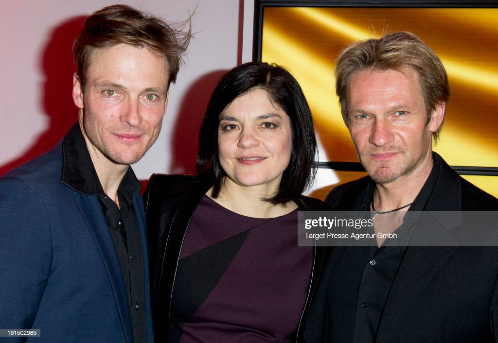 Yasmin Tabatabai, Andreas Pietschmann and Thure Riefenstein attend the BMW aftershow party of the 'Deutscher Schauspielerpreis' during the 63rd Berlinale International Film Festivalon February 11, 2013 in Berlin, Germany.