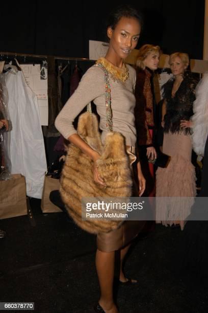 Yasmin Warsame attends Oscar de La Renta Fashion Show at Bryant Park Tents on February 9 2004 in New York City