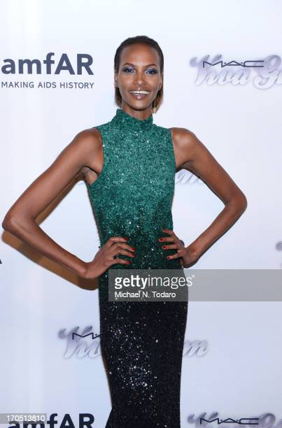 Yasmin Warsame attends the 4th Annual amfAR Inspiration Gala New York at The Plaza Hotel on June 13 2013 in New York City