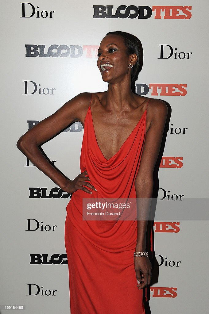 Yasmin Warsame attends the 'Blood Ties' cocktail and party hosted by Dior at Club by Albane in Bulgari Rooftop on May 20, 2013 in Cannes, France.