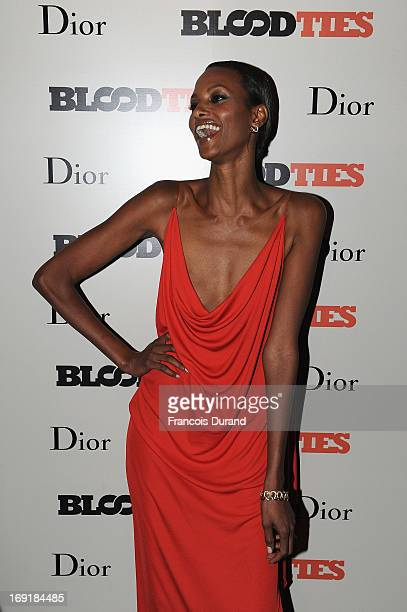 Yasmin Warsame attends the 'Blood Ties' cocktail and party hosted by Dior at Club by Albane in Bulgari Rooftop on May 20 2013 in Cannes France
