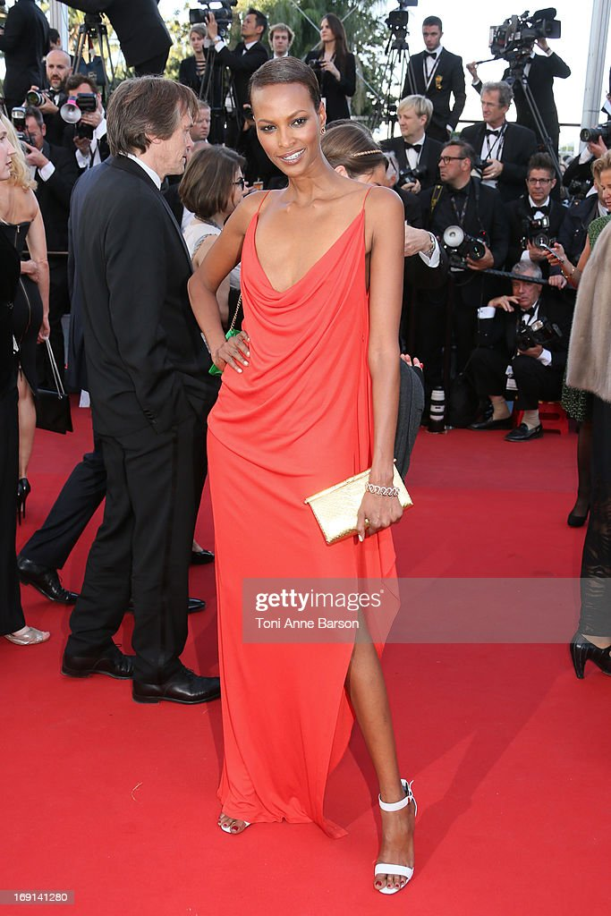Yasmin Warsame attends the Premiere of 'Blood Ties' during the 66th Annual Cannes Film Festival at the Palais des Festivals on May 20, 2013 in Cannes, France.