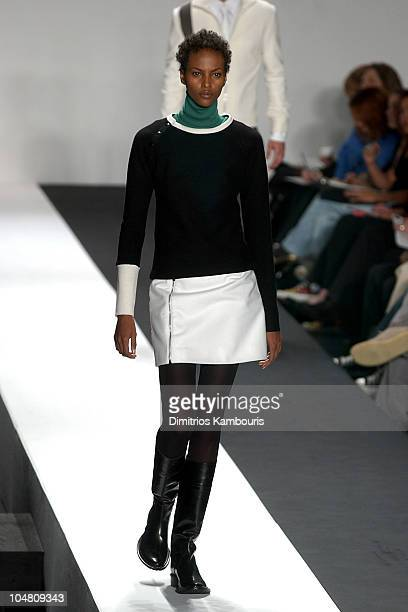 Yasmin Warsame during MercedesBenz Fashion Week Fall 2003 Collections Kenneth Cole Runway at Bryant Park in New York City New York United States