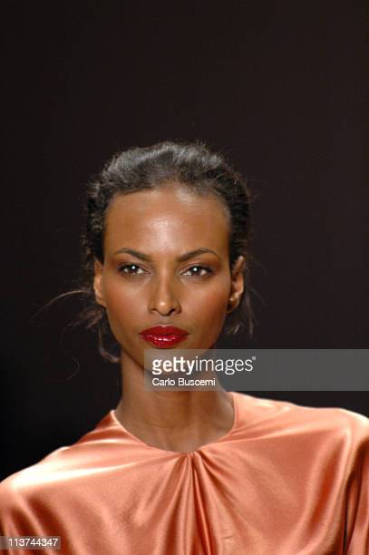 Yasmin Warsame wearing Esteban Cortazar Fall 2005