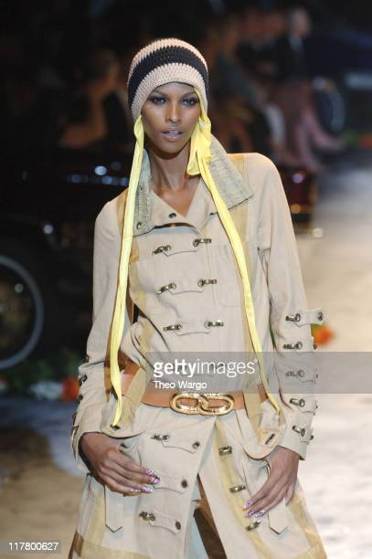Yasmin Warsame wearing Gwen Stefani for LAMB Spring 2006