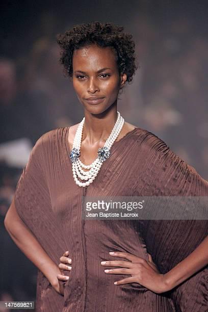 Yasmin Warsame wearing Lanvin during Paris Fashion Week Ready to Wear Spring / Summer 2005 Lanvin Runway at Carrousel du Louvre in Paris France