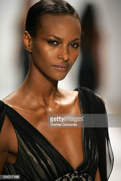 Yasmin Warsame wearing Naeem Kahn Spring 2006