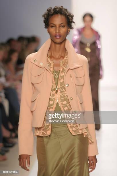 Yasmin Warsame wearing Tuleh Spring 2005