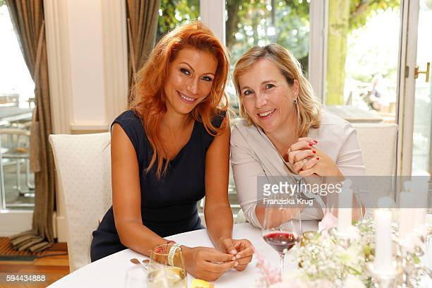 Yasmina Filali and Isabel Bonacker attend the Society Relations Ladies Lunch in favor of the Stiftung Deutsche SchlaganfallHilfe on August 23 2016 in...