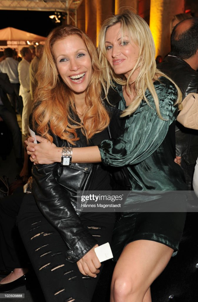 Yasmina Filali and Melanie Tara attend the Movie Meets Media party at P1 on June 28 2010 in Munich Germany