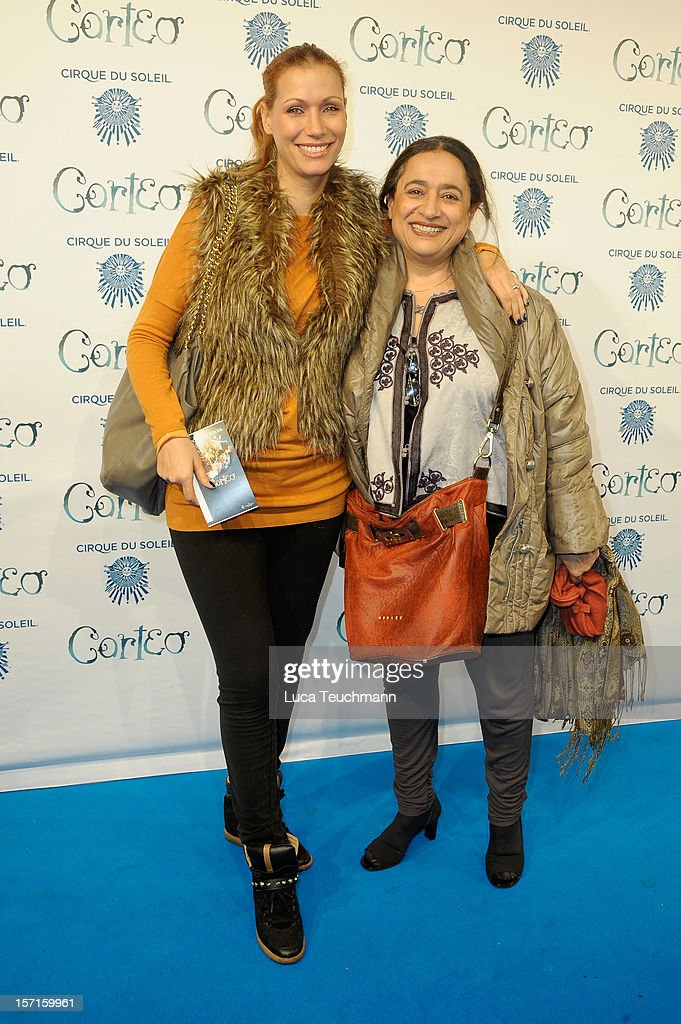 Yasmina Filali and mother attend Cirque Du Soleil Germany Premiere at Corteo Berlin - Under the Grand Chapiteau on November 29, 2012 in Berlin, Germany.