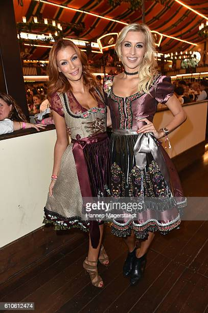 Yasmina Filali and Verena Kerth attend the BILD Wiesn at Marstall Festzelt during the Oktoberfest at Theresienwiese on September 26 2016 in Munich...