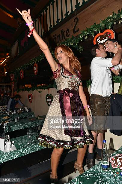 Yasmina Filali attends the BILD Wiesn at Marstall Festzelt during the Oktoberfest at Theresienwiese on September 26 2016 in Munich Germany