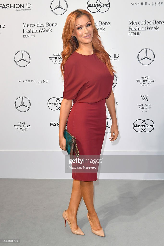 Yasmina Filali attends the Guido Maria Kretschmer show during the Mercedes-Benz Fashion Week Berlin Spring/Summer 2017 at Erika Hess Eisstadion on June 29, 2016 in Berlin, Germany.