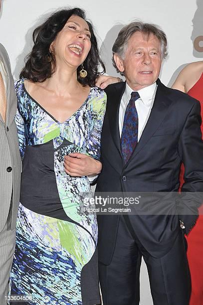 Yasmina Reza and Roman Polanski attend 'Carnage' Paris premiere at Cinema Gaumont Marignan on November 20 2011 in Paris France