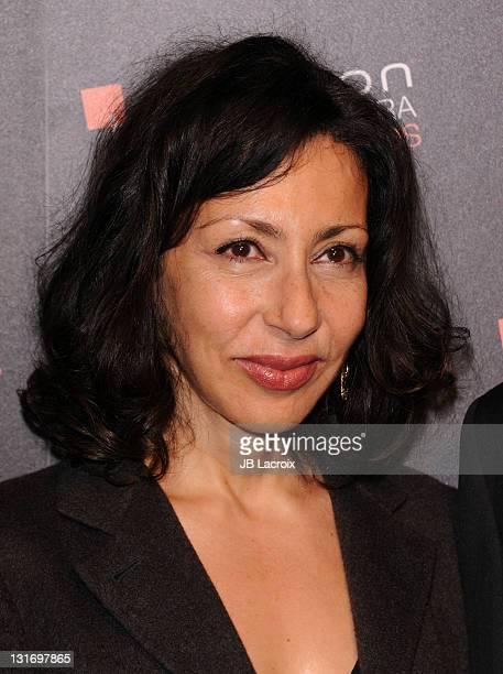 Yasmina Reza arrives at Hamilton Behind The Camera Awards Presented By Los Angeles Confidential Magazine at The Conga Room at LA Live on November 6...