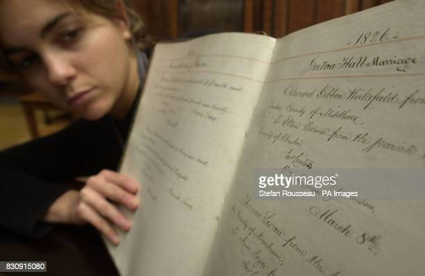 Yasmina Solanes of Christie's studies a register containing 1134 marriage certificate transcripts from Gretna Green's heyday in the mid19th century...