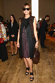 Yasmine Le Bon attends the Salvatore Ferragamo during the Milan Fashion Week Womenswear Spring/Summer 2015 on September 21 2014 in Milan Italy