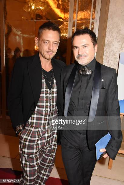 Yassen Samouilov and Frederic Blanc attend 'Attitude Luxe' Magazine December 2017 Launch Cocktail at Hotel Plazza Athenee on November 20 2017 in...