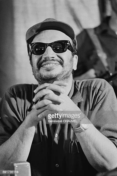 Yasser Arafat gives a press conference in Amman He's the first Palestinian guerilla leader to come out of the underground in 1968