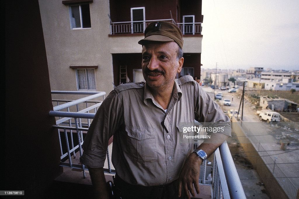 Yasser Arafat In Tripoli, Lebanon On September 22, 1983.