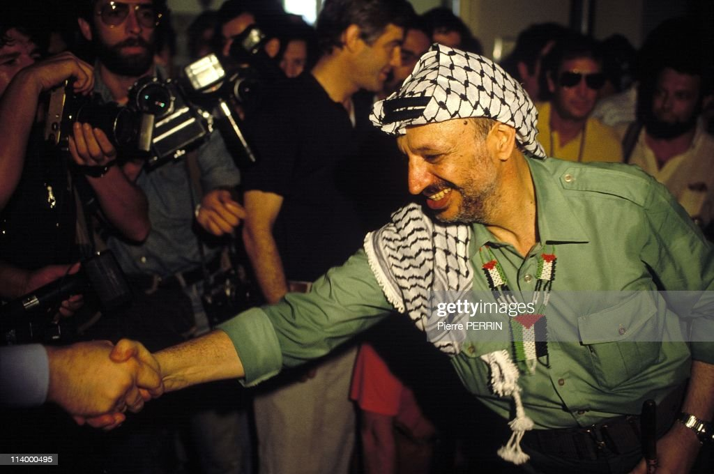 Yasser Arafat leaves Beirut in Beirut, Lebanon On August 30, 1982.