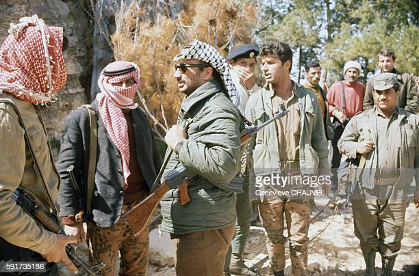 Yasser Arafat with Fedayin fighters of the Fatah movement