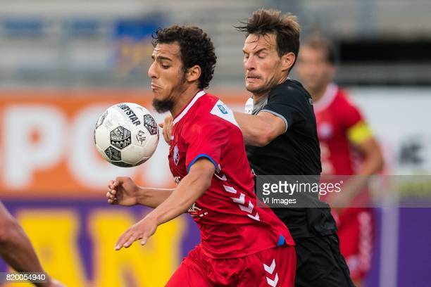 Yassin Ayoub of FC Utrecht Juan Cruz Gill of Valetta FC during the UEFA Europa League second qualifying round match between FC Utrecht and Valletta...