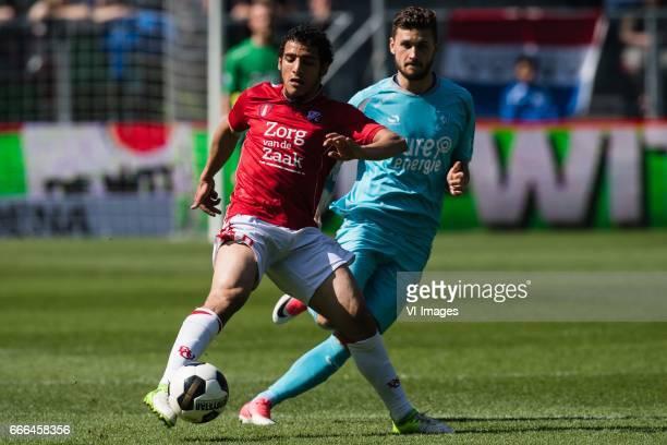 Yassin Ayoub of FC Utrecht Mateusz Klich of FC Twenteduring the Dutch Eredivisie match between FC Utrecht and FC Twente Enschede at the Galgenwaard...