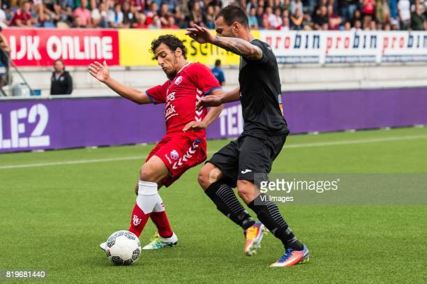 Yassin Ayoub of FC Utrecht Steve Borg of Valetta FC during the UEFA Europa League second qualifying round match between FC Utrecht and Valletta FC at...