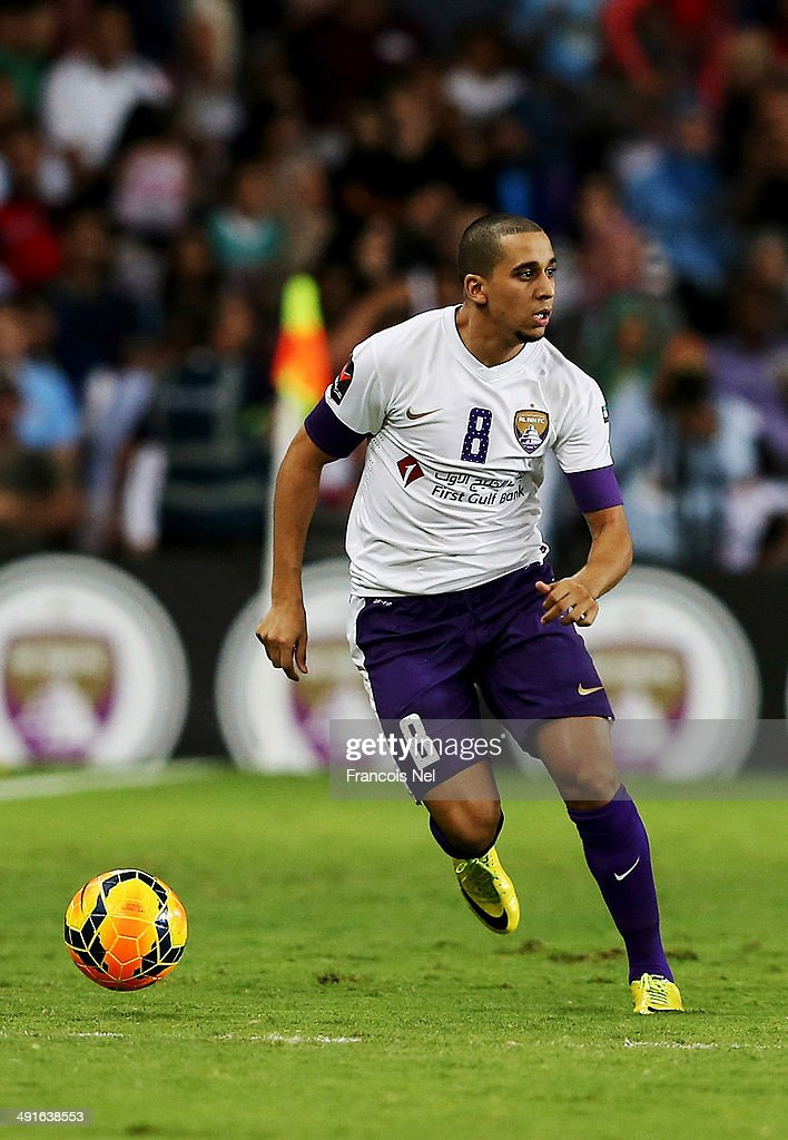 Yassine Al Ghanassy of Al Ain in action during the friendly match between Al Ain and Manchester City at Hazza bin Zayed Stadium on May 15, 2014 in Al Ain, United Arab Emirates.