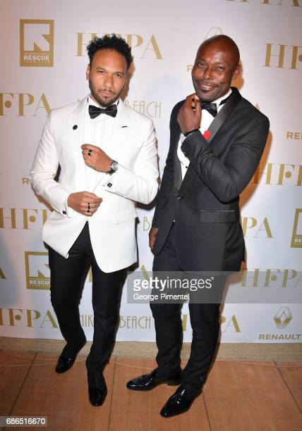 Yassine Azzouz and Jimmy JeanLouis attend the Hollywood Foreign Press Association's 2017 Cannes Film Festival Event in honour of the International...