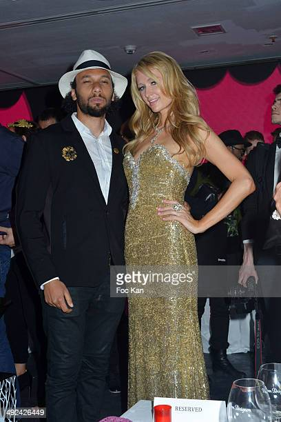 Yassine Azzouz and Paris Hilton attend the VIP Room JW Marriott Day 6 Dancing Spies Ball hosted by Rosario Dawson 67th Annual Cannes Film Festival on...
