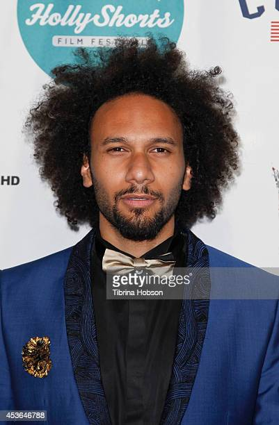 Yassine Azzouz attends HollyShorts 10th anniversary opening night at TCL Chinese Theatre on August 14 2014 in Hollywood California