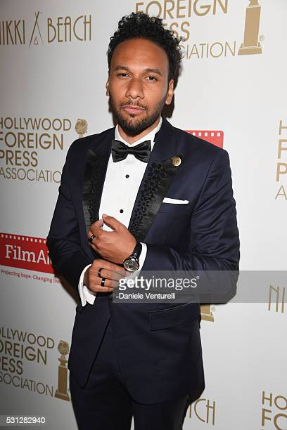 Yassine Azzouz attends The Hollywood Foreign Press Association Honour Filmaid International party during The 69th Annual Cannes Film Festival on May...