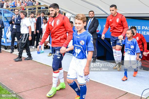 Yassine Benzia of Lille during the Ligue 1 match between Racing Club Strasbourg and Lille OSC at Stade de la Meinau on August 13 2017 in Strasbourg