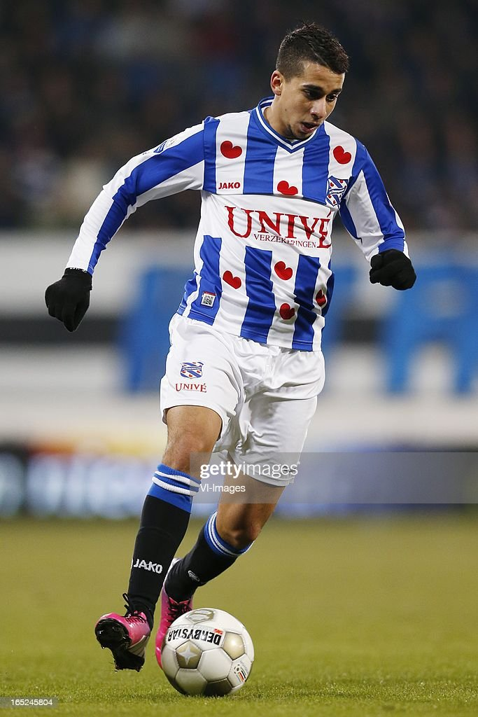Yassine El Ghanassy of Heerenveen during the Dutch Eredivisie match between SC Heerenveen and Feyenoord at the Abe Lenstra Stadium on march 30, 2013 in Heerenveen, The Netherlands