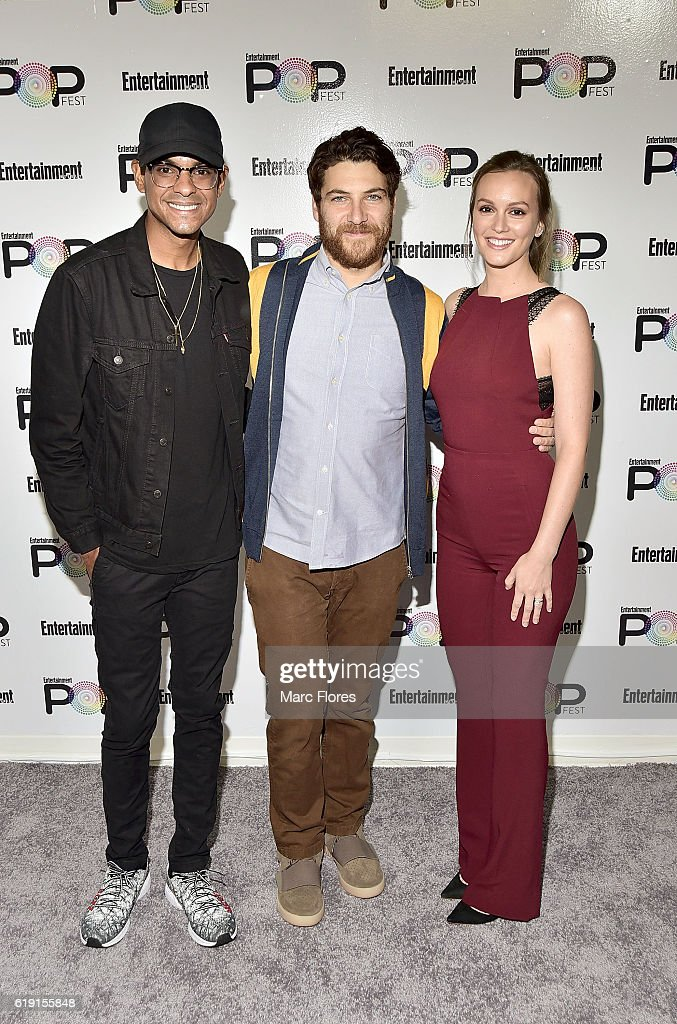 Yassir Lester, Adam Pally and Leighton Meester attend Entertainment Weekly's Popfestat The Reef on October 29, 2016 in Los Angeles, California.
