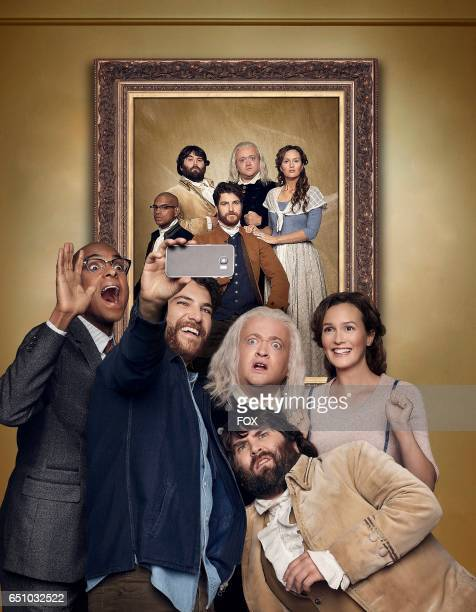 Yassir Lester Adam Pally Neil Casey John Gemberling and Leighton Meester in MAKING HISTORY premiering Sunday March 5 on FOX