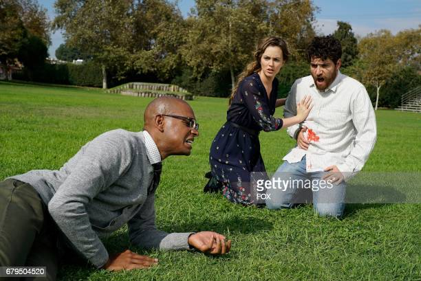 Yassir Lester Leighton Meester and Adam Pallly in the 'The Duel' episode of MAKING HISTORY airing Sunday May 7 on FOX