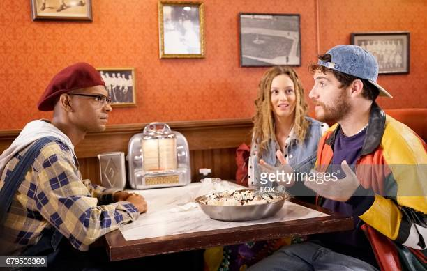 Yassir Lester Leighton Meester and Adam Pally in the 'Chadwick's Angels' episode of MAKING HISTORY airing Sunday March 26 on FOX
