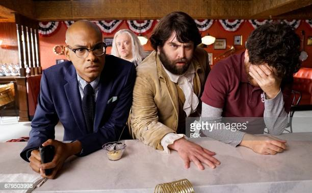 Yassir Lester Neil Casey John Gemberling and Adam Pally in the 'Night Cream' episode of MAKING HISTORY airing Sunday April 30 on FOX