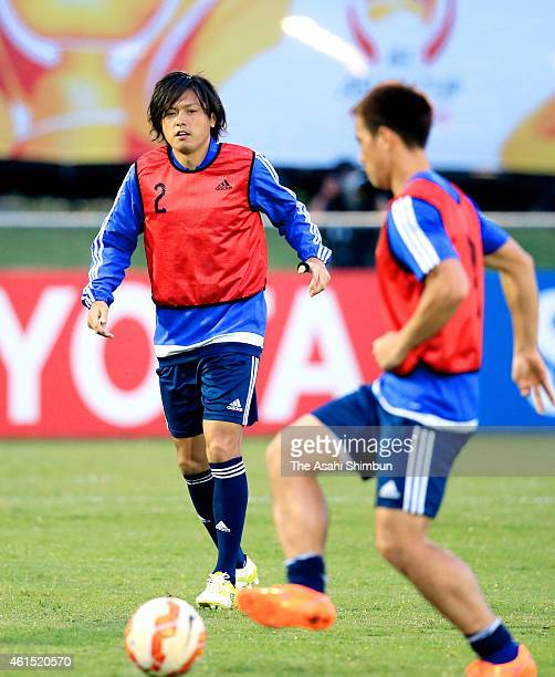 Yasuhito Endo of Japan in action during a training session on January 14 2015 in Brisbane Australia