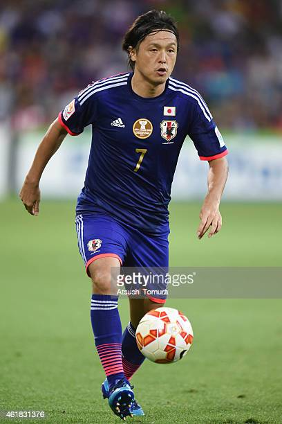 Yasuhito Endo of Japan in action during the 2015 Asian Cup match between Japan and Jordan at AAMI Park on January 20 2015 in Melbourne Australia