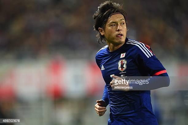 Yasuhito Endo of Japan in action during the international friendly match between Japan and Australia at Nagai Stadium on November 18 2014 in Osaka...
